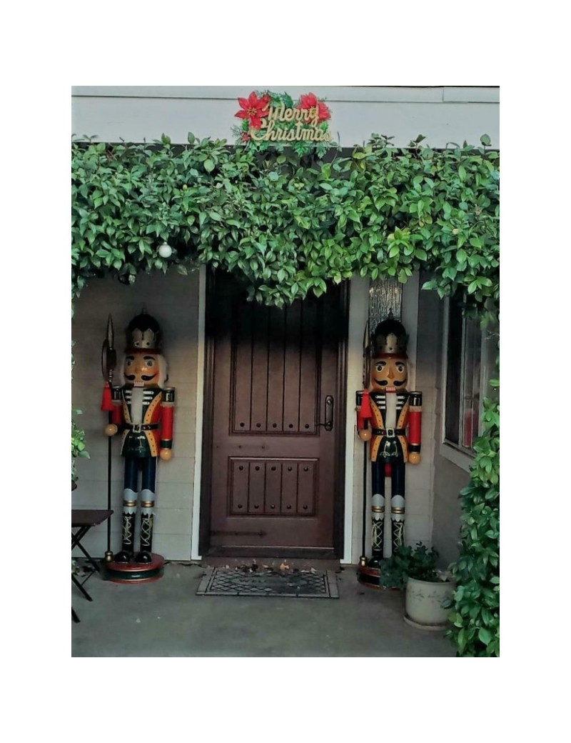 """72"""" 6 FT Tall - Wooden Nutcracker Pair, , Vintage - Good Condition"""
