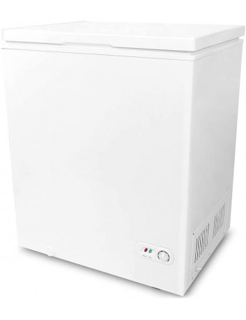 5.0 Cubic Feet Chest Freezer with Removable Basket, from 6.8℉ to -4℉ Free Standing Compact Fridge Freezer for Home/Kitchen/Office/Bar (WHITE)