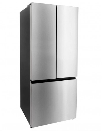 RecPro RV Refrigerator Stainless Steel | 16 Cubic Feet | 12-Volt | French Style Doors | Low Wattage