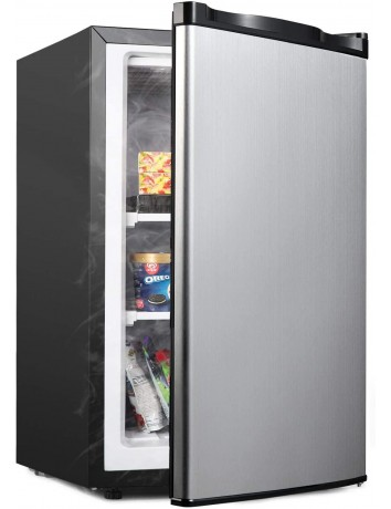 ADT 3.0 Cu.ft Upright Freezer with Compact Reversible Single Door Free Standing Mini Freezer with Adjustable Thermostat for Home/Kitchen/Office