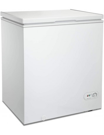 Antarctic Star 5.0 Cu.ft Chest Freezer 6.8℉to -4℉with Removable Basket Free Standing Top open Door Compact Freezer with Adjustable 7 Temperature Defrost Water Drain/Power Saving UL Certified White