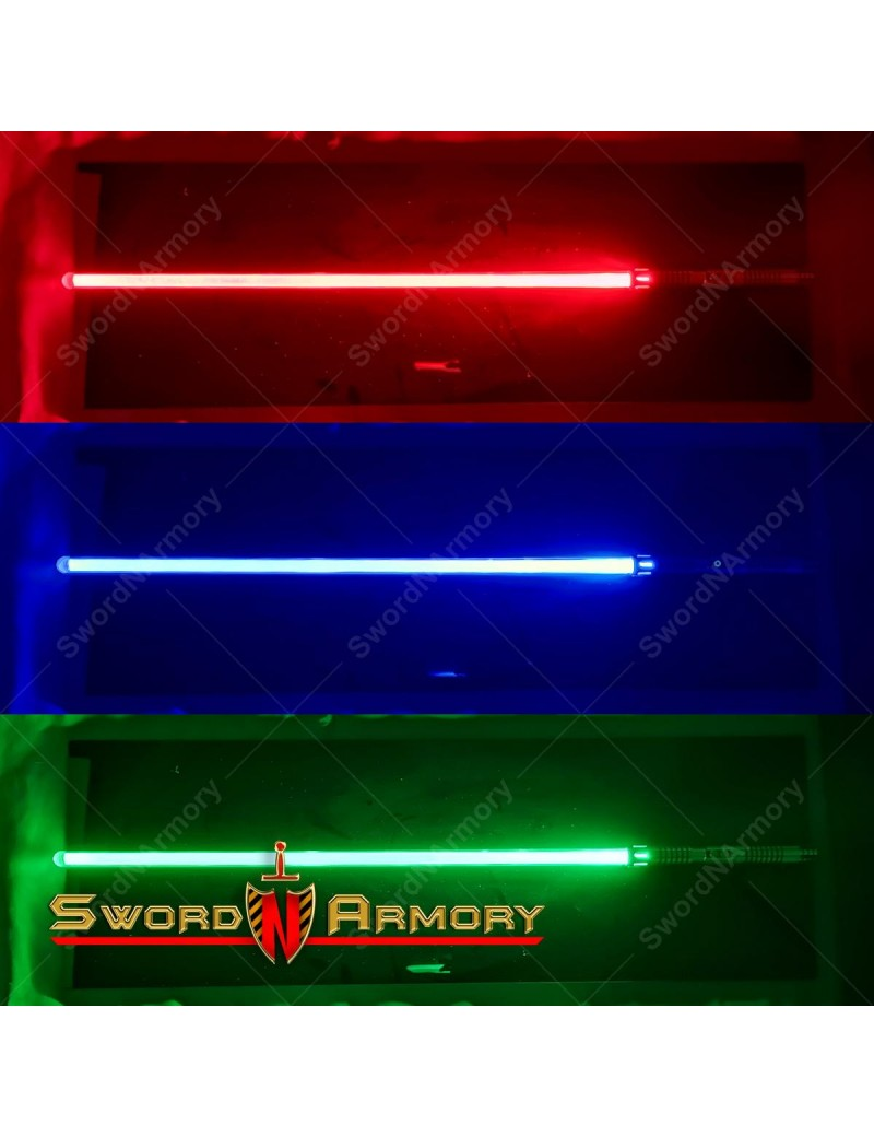 Saber Shogun Light Sword w/ Sound 3 Colors LED Rechargeable Battery Cosplay