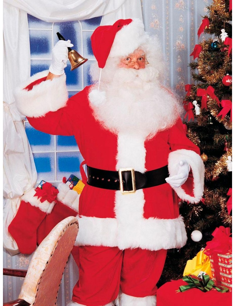 Santa Deluxe Embroidered Suit Adult