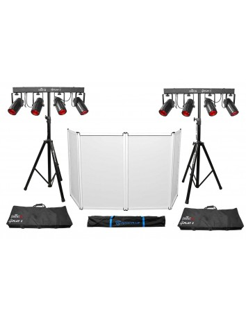 (2) Chauvet DJ 4PLAY 2 RGBW DMX Light Bars Packages+Bags+Stands and Facade 4PLAY2