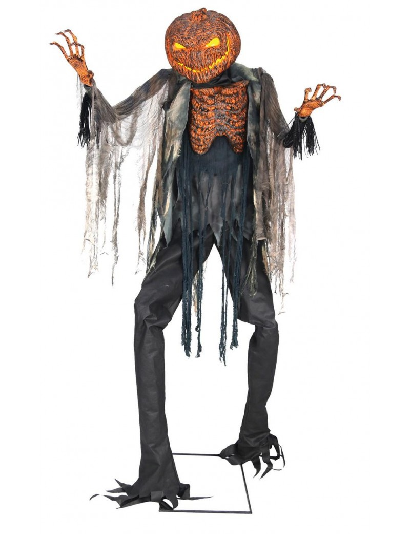7ft. Scorched Scarecrow Animated NO FOG MACHINE Halloween Decoration