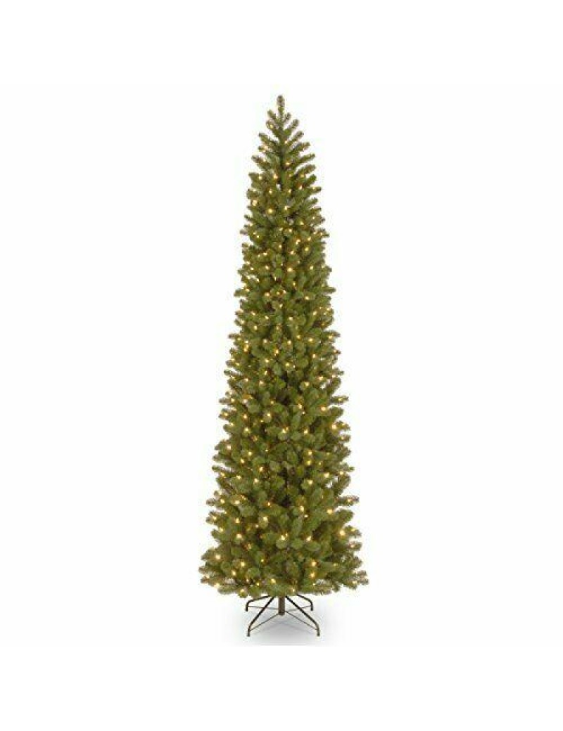 'Feel Real lit Artificial Christmas Tree Includes Pre-Strung White Lights 9 ft