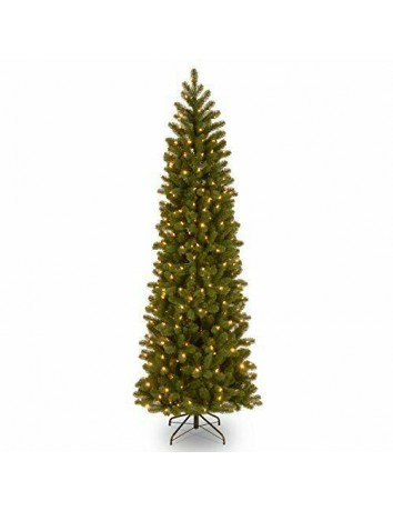'Feel Real' Pre-lit Artificial Christmas Tree | Includes Pre-strung 10 7.5 ft