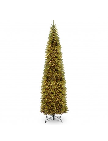 12' Kingswood Fir Pencil Tree with 800 Clear Lights